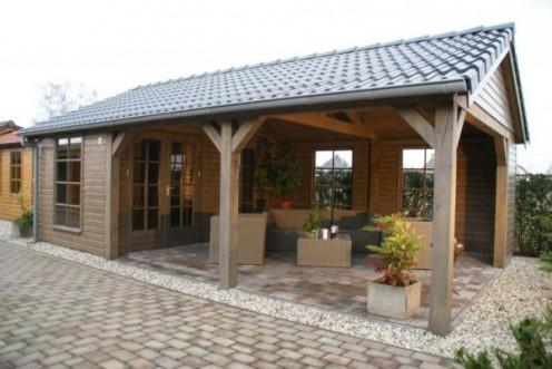 Tuinhuisje met ingebouwd terras nr. 13