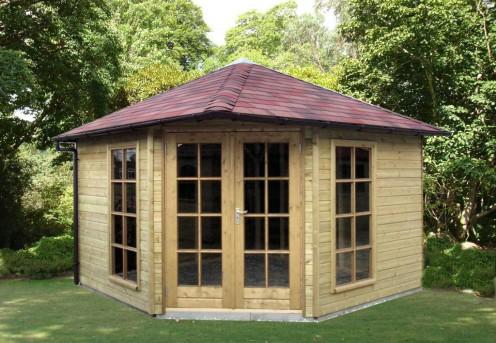 Tuinhuis 5 hoekig met vierzijdig dak a