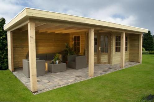 Tuinhuisje met plat dak G